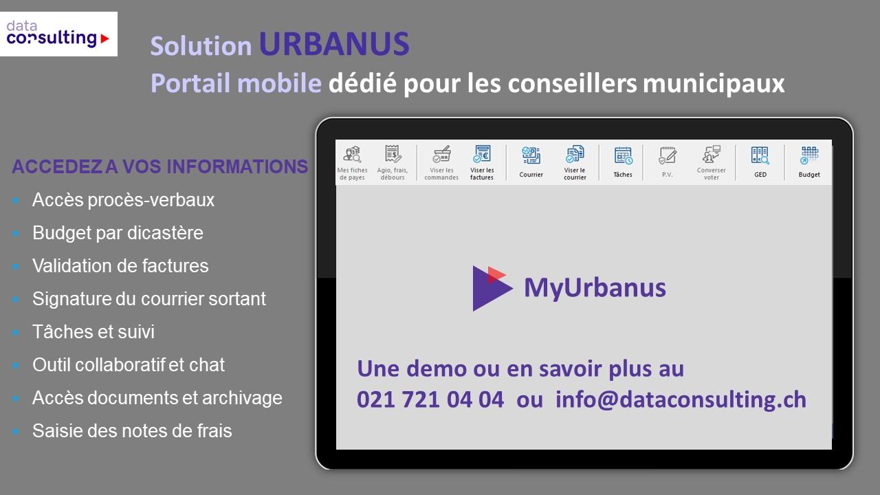 MyUrbanus - le Portail mobile pour les conseillers municipaux